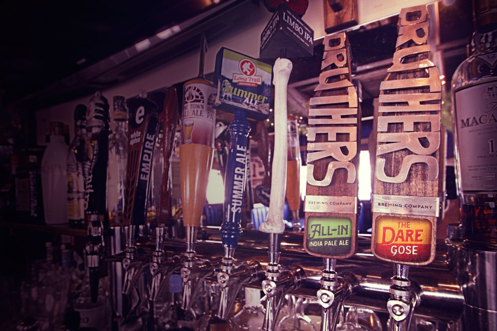 Druthers wood tap handles