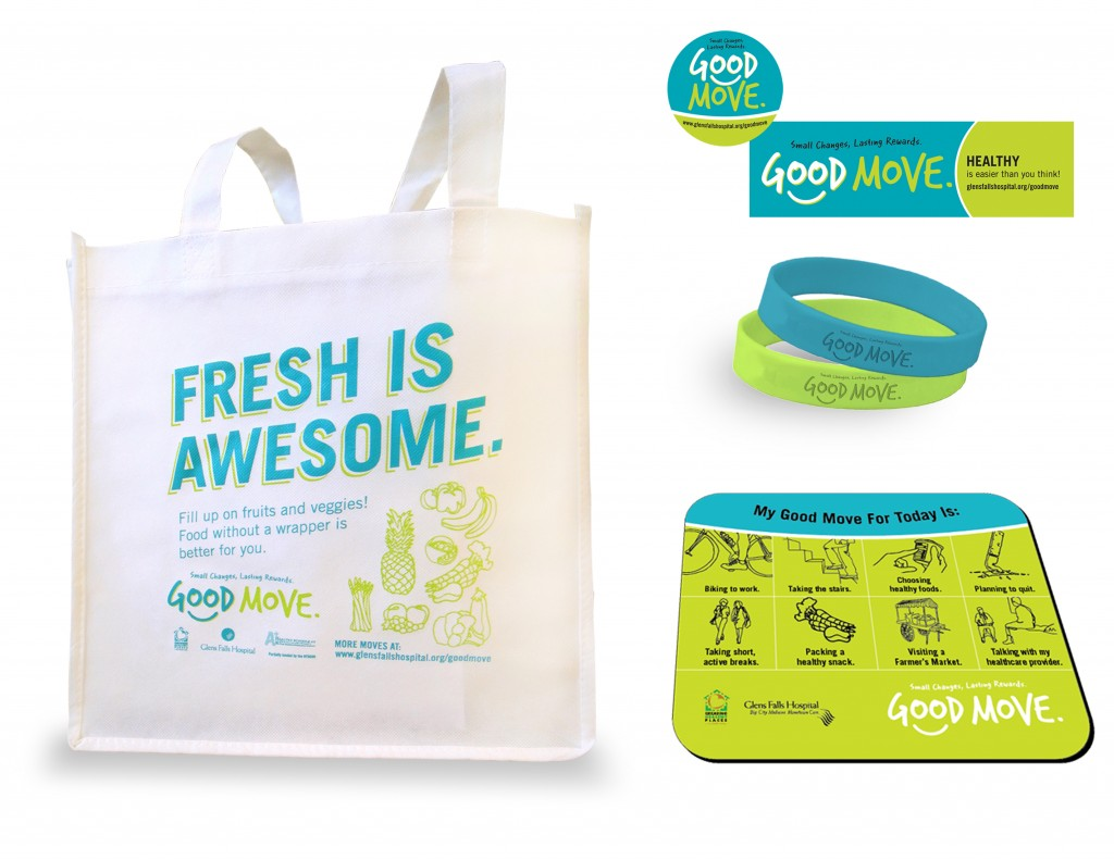 Good Move tote bag and bands