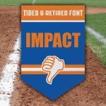 Baseball Impact Trampoline Retired Fonts