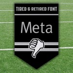 Football Meta Trampoline Retired Fonts