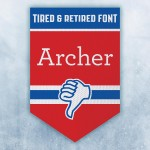 Hockey Archer Trampoline Retired Fonts