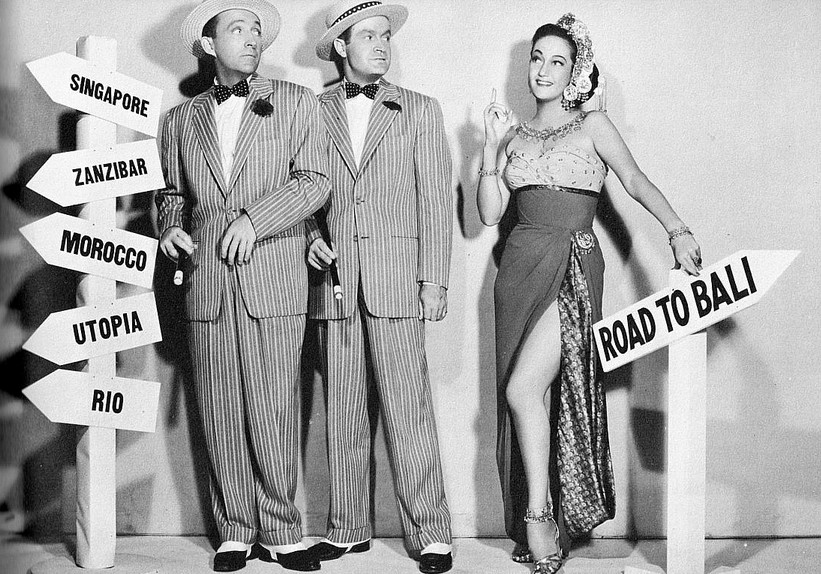 Dorothy-Lamour-with-Bing-Crosby-and-Bob-Hope-in-Road-To-Bali-1952