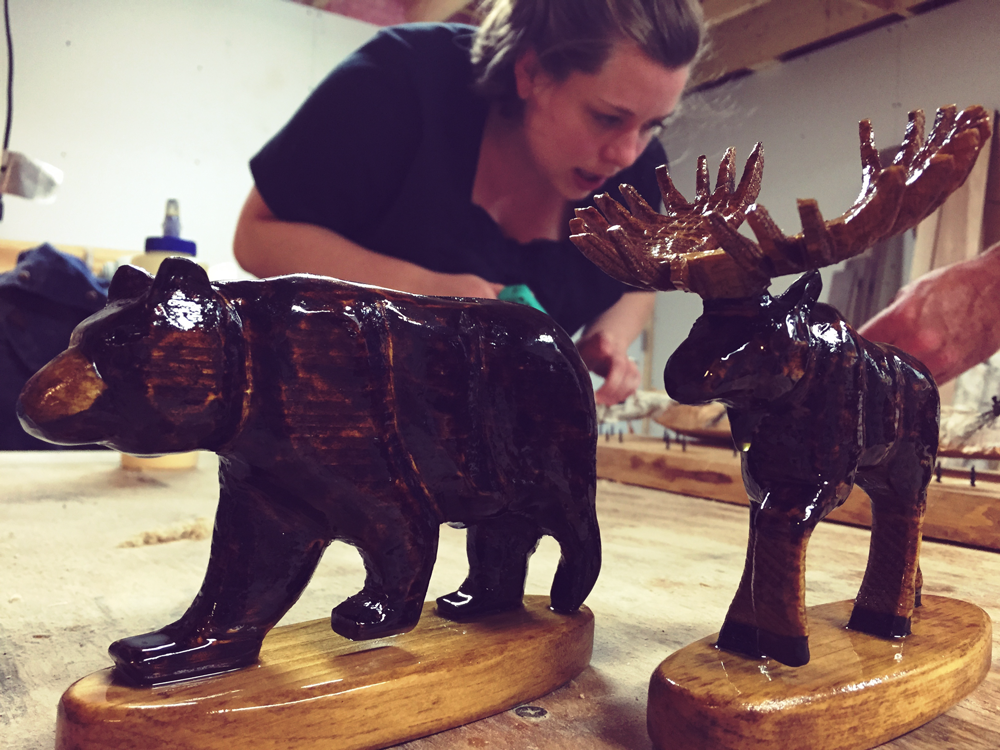 The figurines were carved by hand and took about 8 hours each!