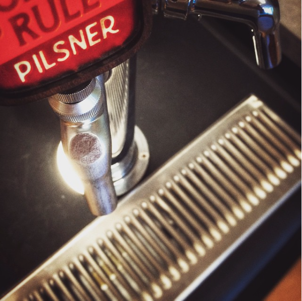 Druthers tap handle and label.