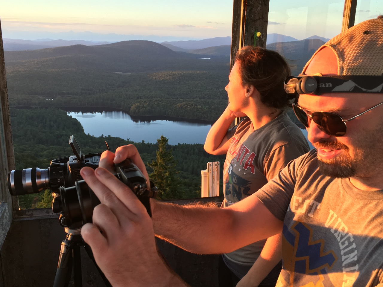Matt, Cara and Sean hiked Goodnow Mountain at sunset to capture stills and time-lapse video.