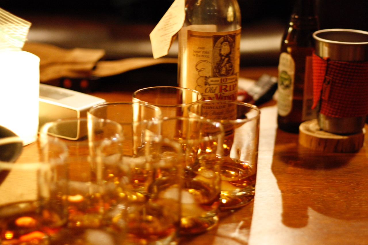 The Pappy was doled out with a fair warning: If you don't enjoy whiskey, pass it on!