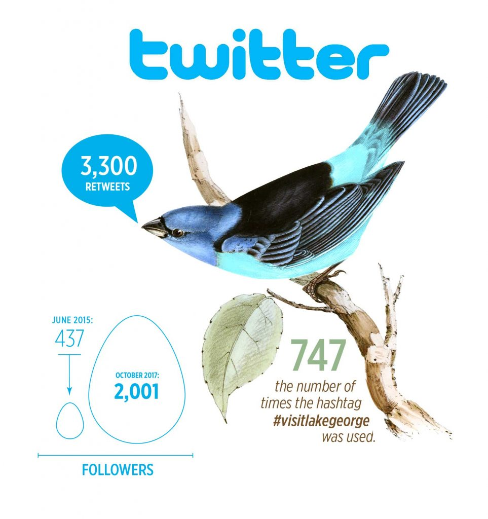 Twitter Bird and stats