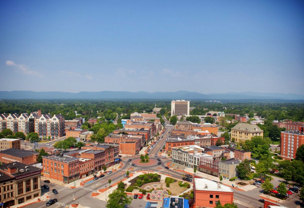 Aerial photo of downtown Glens Falls