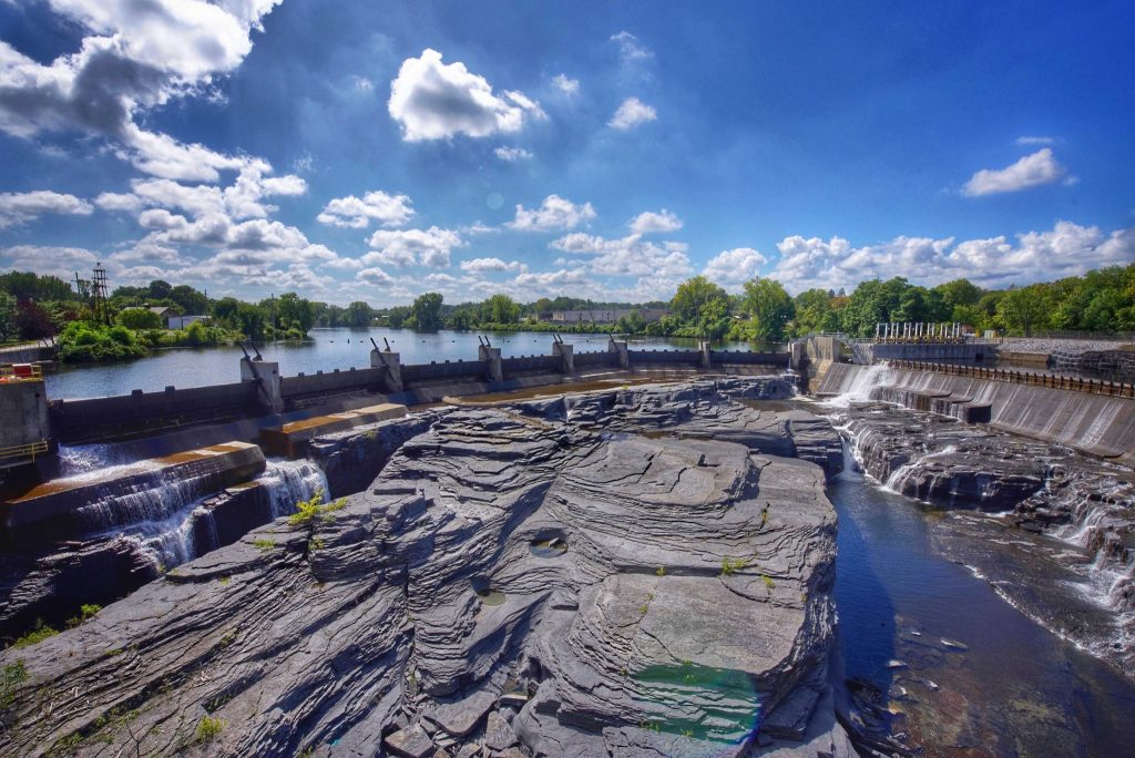 Photo of the Hudson River at Glens Falls