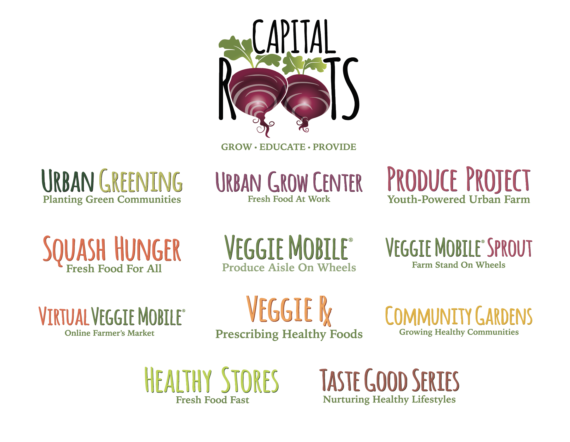 Capital Roots logo collection