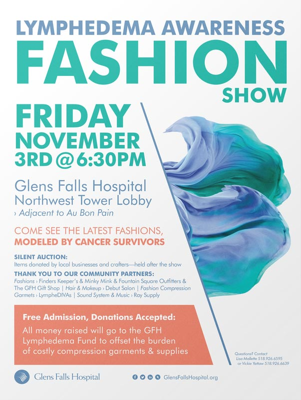 Lymphedema Awareness Fashion Show Poster