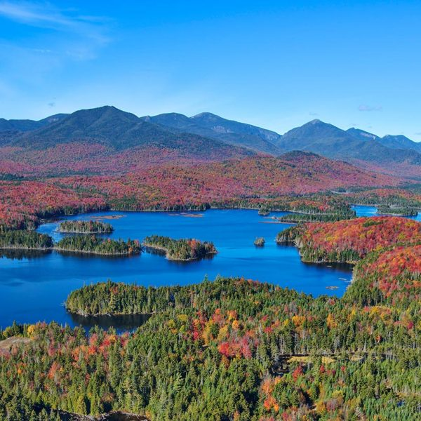 View of Fall Adirondack Landscape