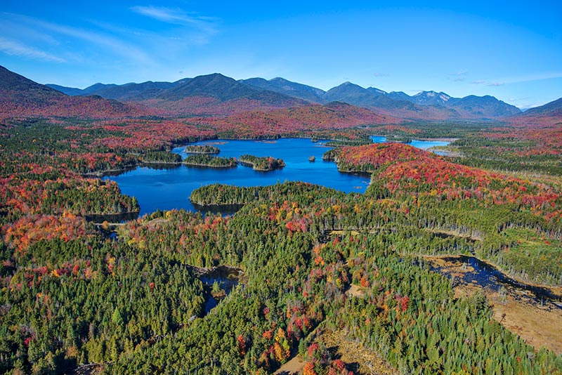 View of Adirondack Landscape