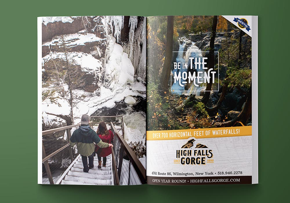 High Falls Gorge 2 page ad
