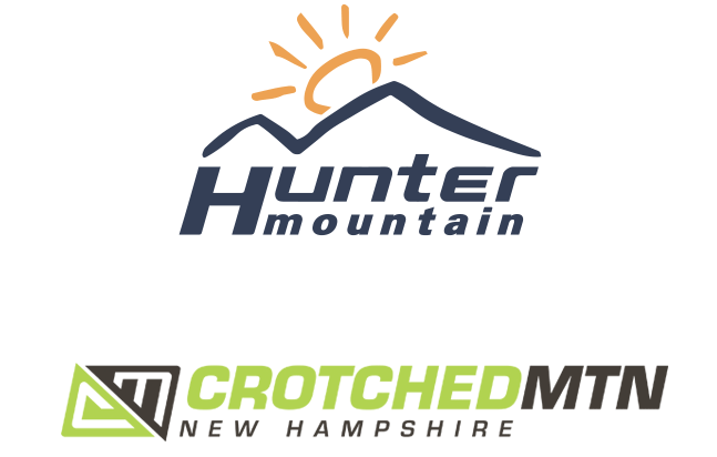 Hunter Mountain and Crotched Mountain logos