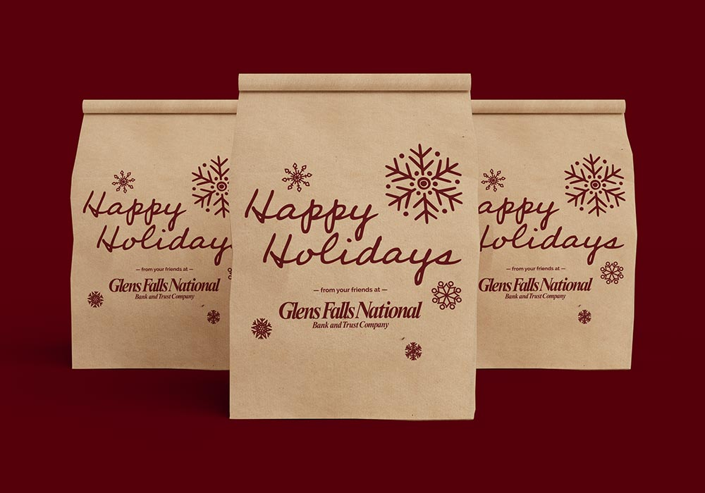 Glens Falls National Happy Holiday Gift Bags