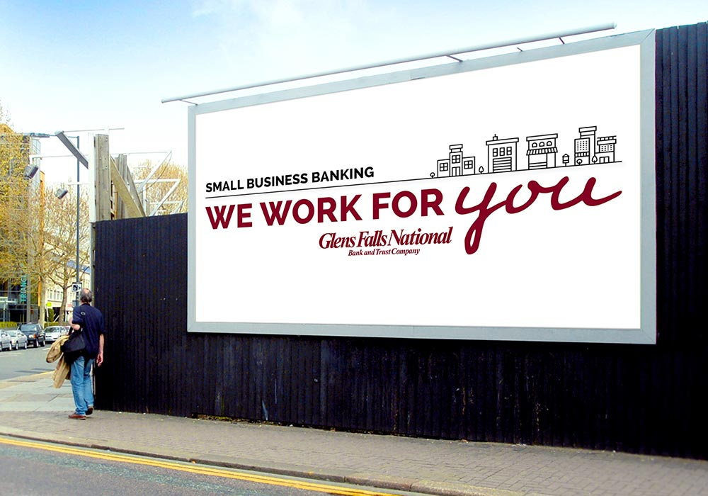 Glens Falls National We work for you billboard