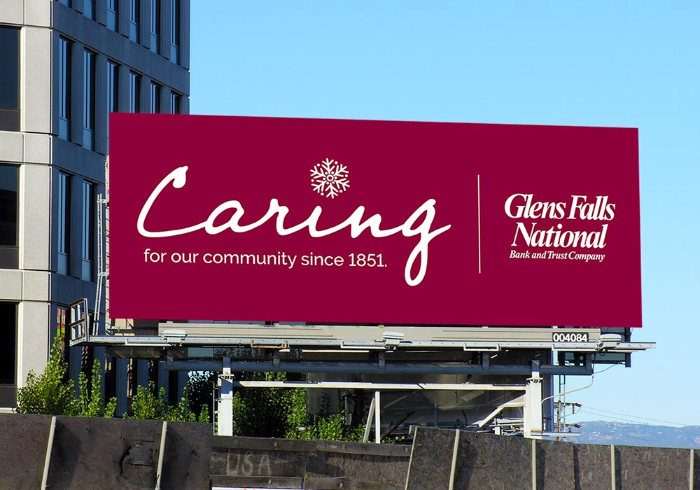 Glens Falls National Caring Billboard