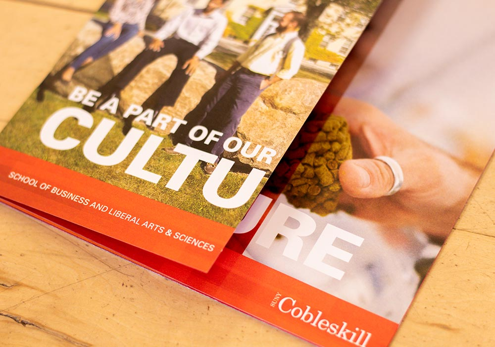 SUNY Cobleskill Close up of Brochure