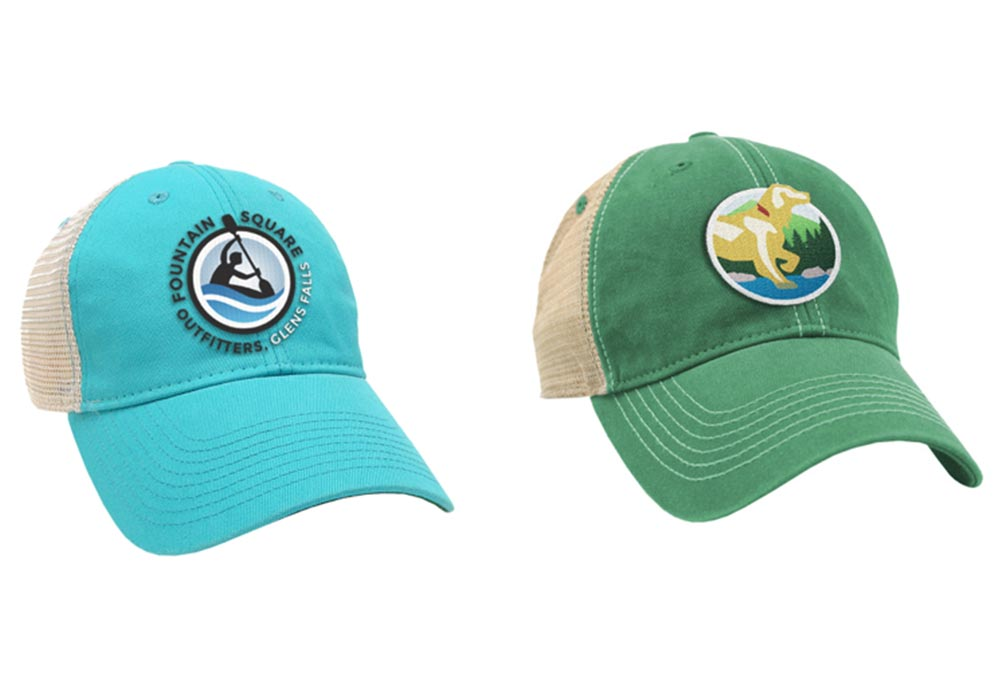 Fountain Square Outfitters Blue and green hats