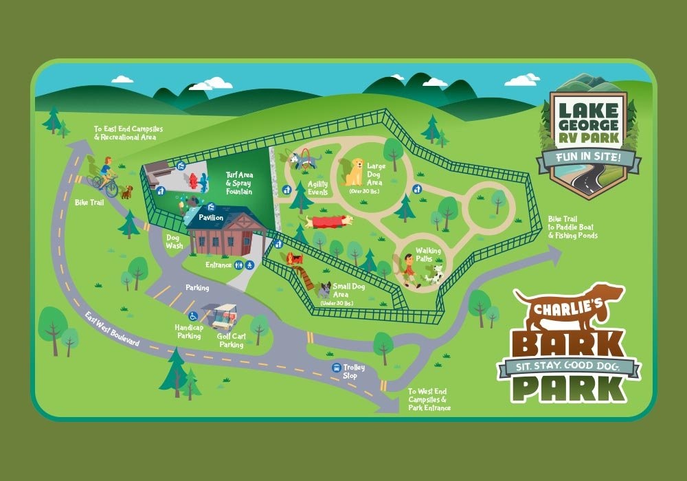 Charlie's Bark Park Map