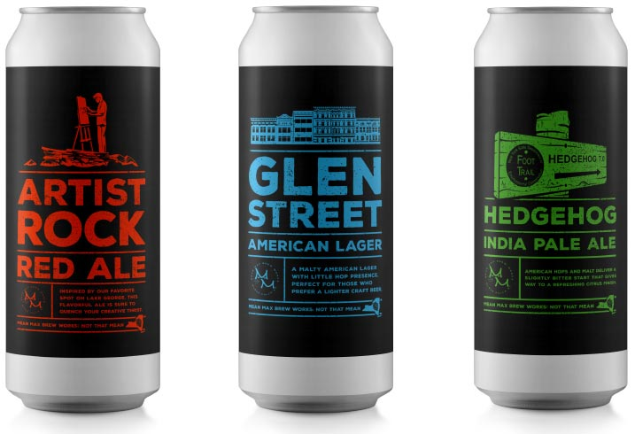 Beer Can designs for Mean Max