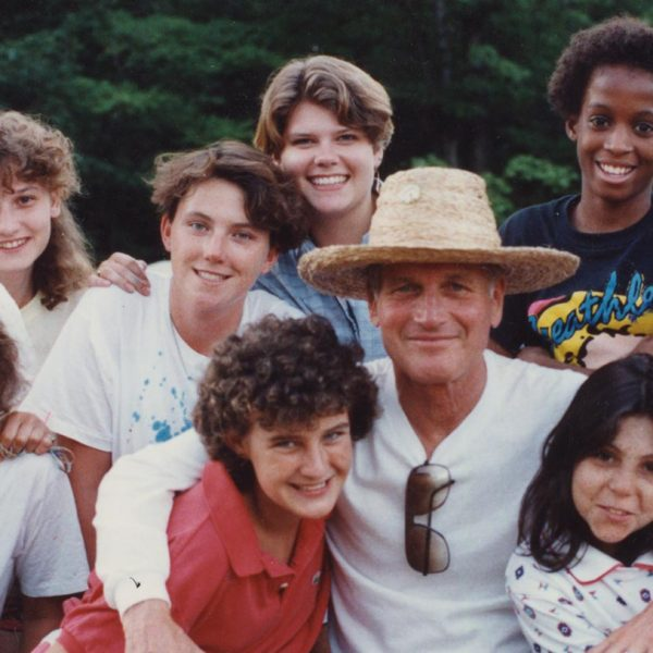 Paul Newman with campers