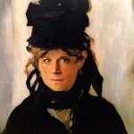 "Amanda as ""Berthe Morisot with a Bouquet of Violets,"" Edouard Manet"
