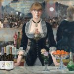"Leslie as ""A Bar at the Folies-Bergeré,"" Edouard Manet"