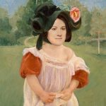 "Megan as ""Spring: Margot Standing in a Garden,"" Mary Cassatt"