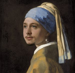 "Oliver as ""Girl with a Pearl Earring"